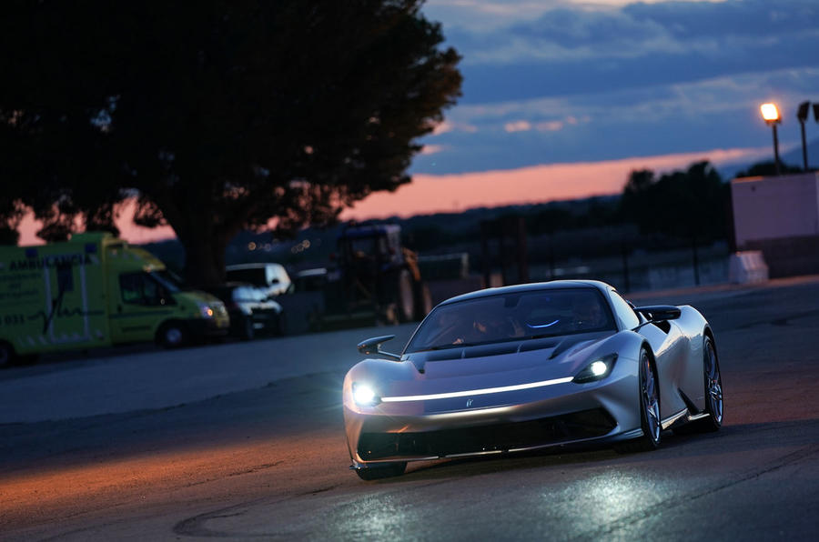 Pininfarina Battista 2019 first drive review - track dusk