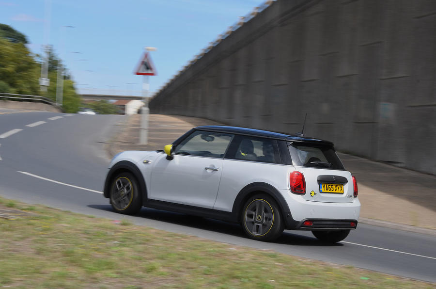 a month with a Mini Electric - on the road rear