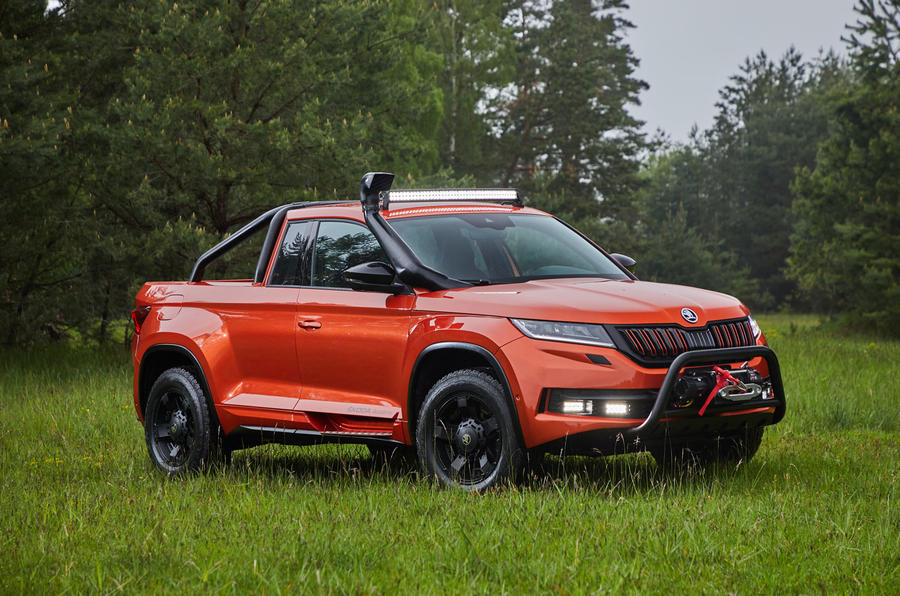 Skoda Mountiaq concept first drive review - static front