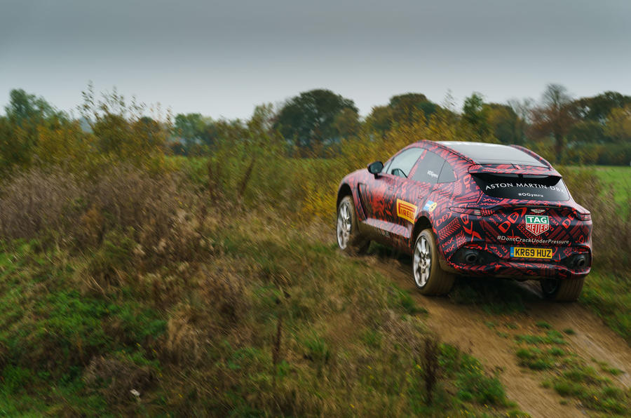 Aston Martin DBX testing off-road