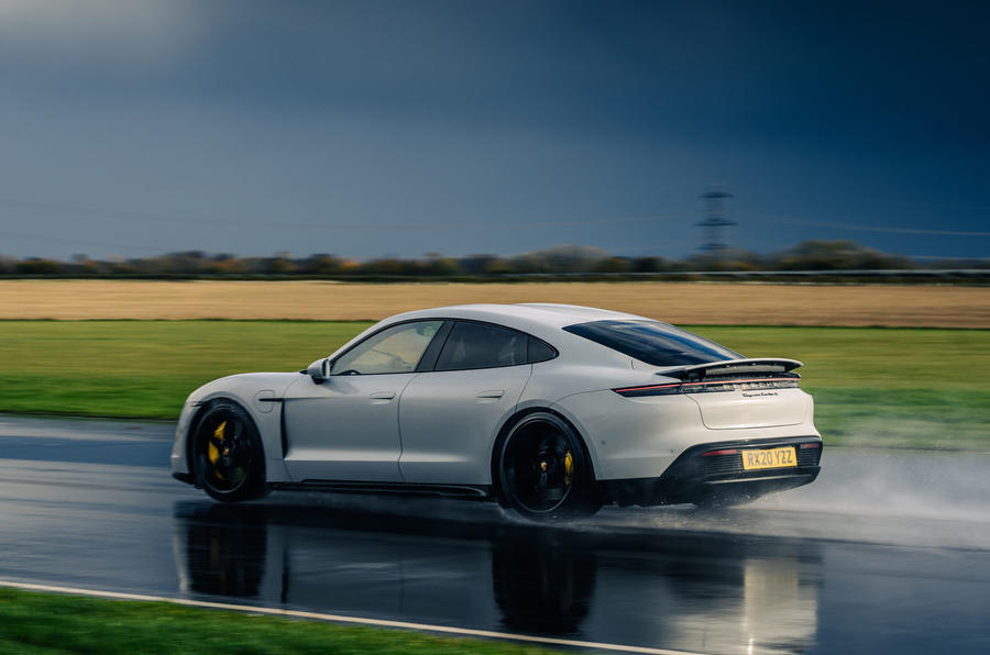 Britain's best drivers car 2020 - Taycan rear