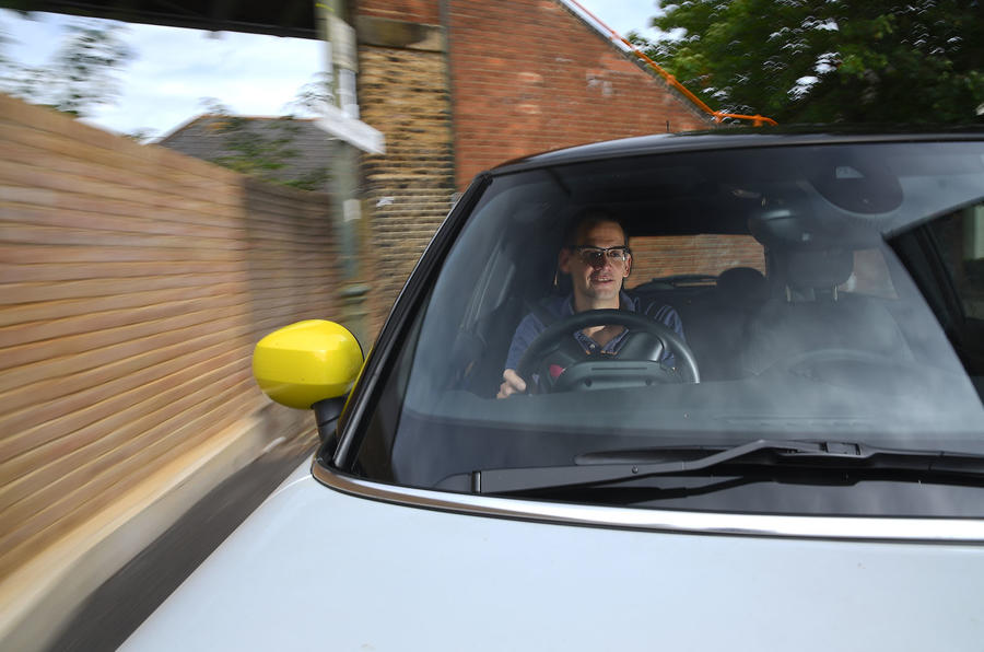 a month with a Mini Electric - Jim Holder driving