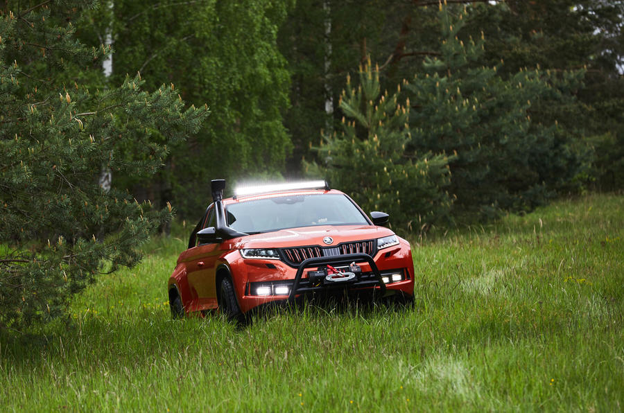 Skoda Mountiaq concept first drive review - offroad nose