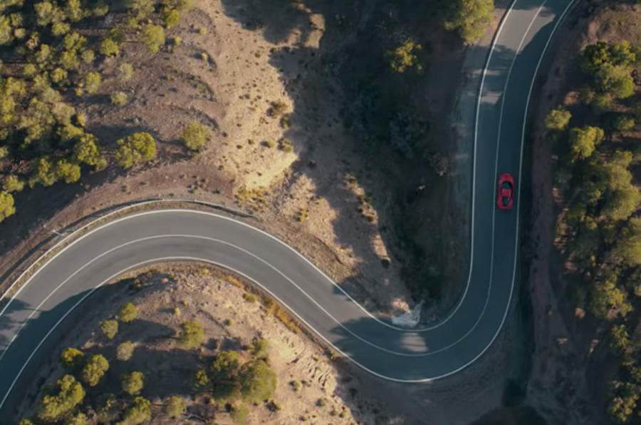 Ferrari F8 Tributo 2019 first ride review - aerial
