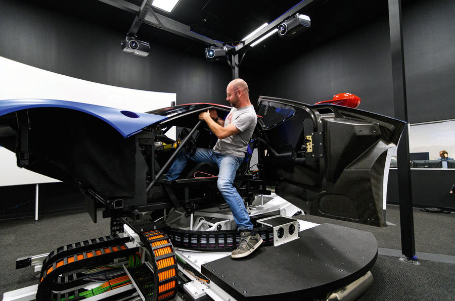 Prior climbing into simulator