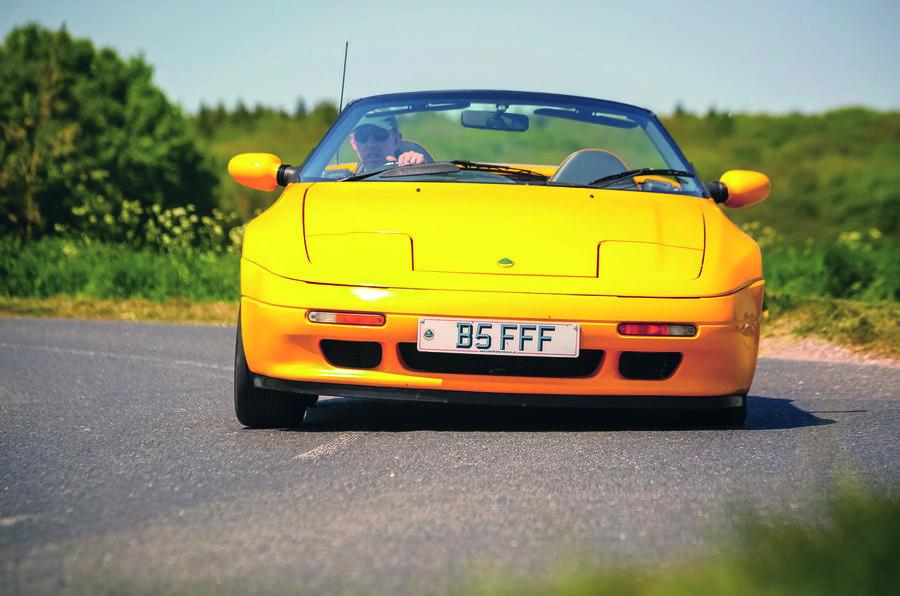 Lotus Elan S2 cornering - front