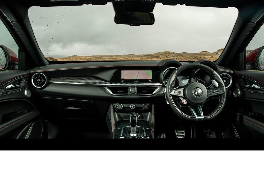 Alfa Romeo Stelvio Quadrifoglio 2018 UK RHD first drive - dashboard