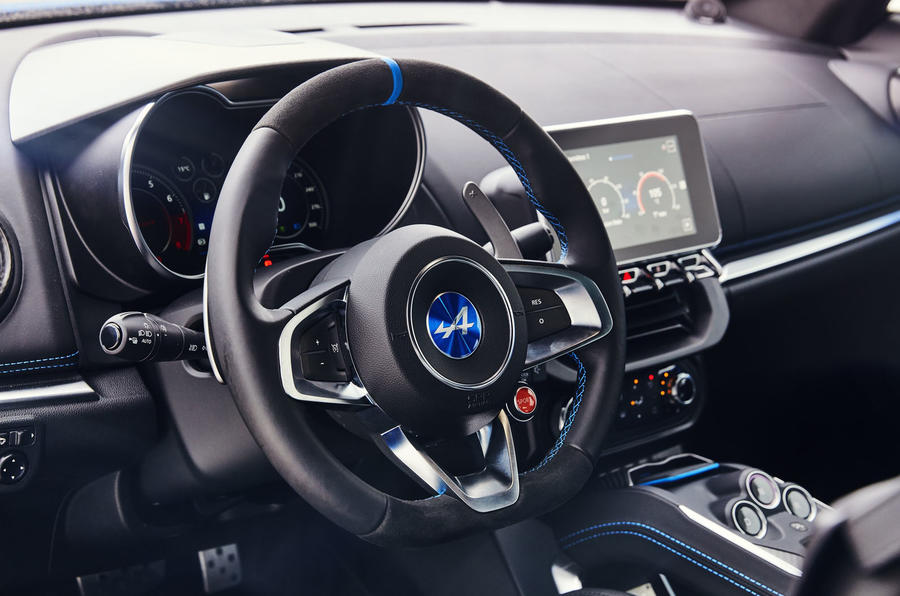 Alpine A110 2018 UK steering wheel