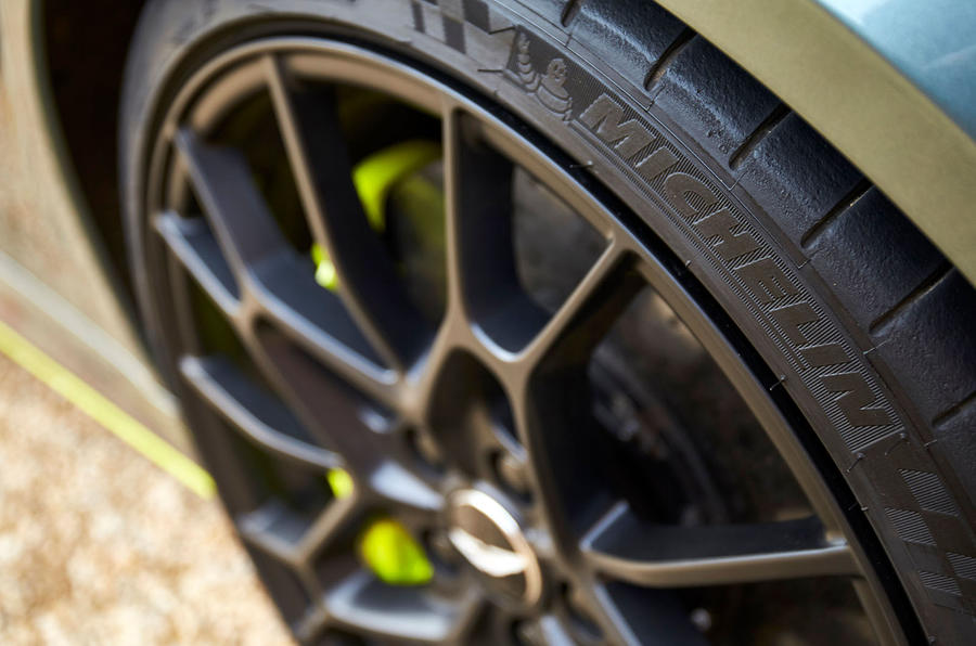 Aston Martin Rapide AMR 2019 UK first drive review - tyres