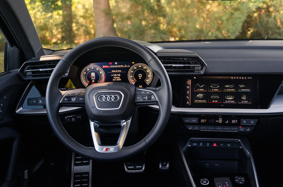 Audi A3 saloon 2020 UK first drive review - dashboard