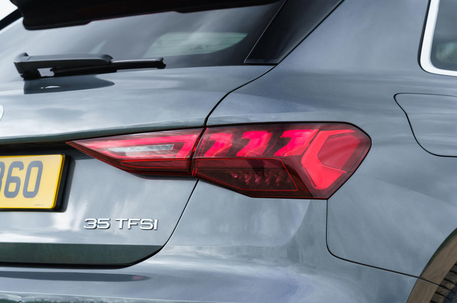 Audi A3 Sportback 2020 UK first drive review - rear lights