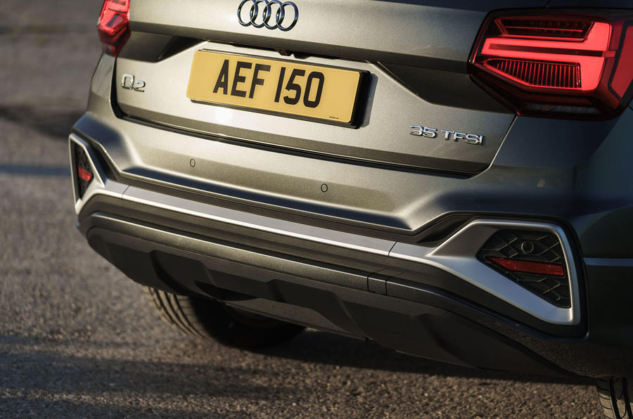 Audi Q2 35 TFSI Sport 2020 UK first drive review - rear end