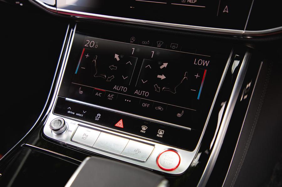 Audi S8 2020 : premier examen de la conduite au Royaume-Uni - contrôle du climat