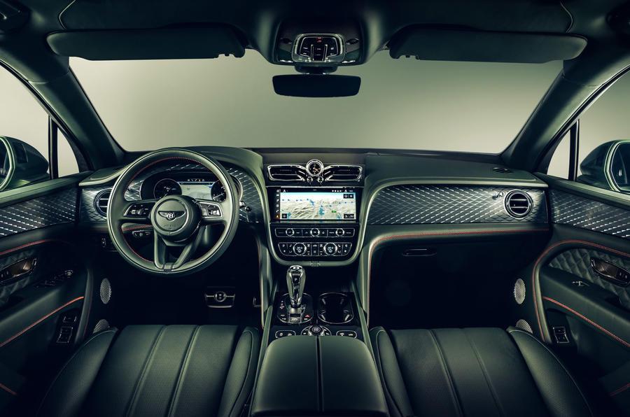 Bentley Bentayga facelift - interior