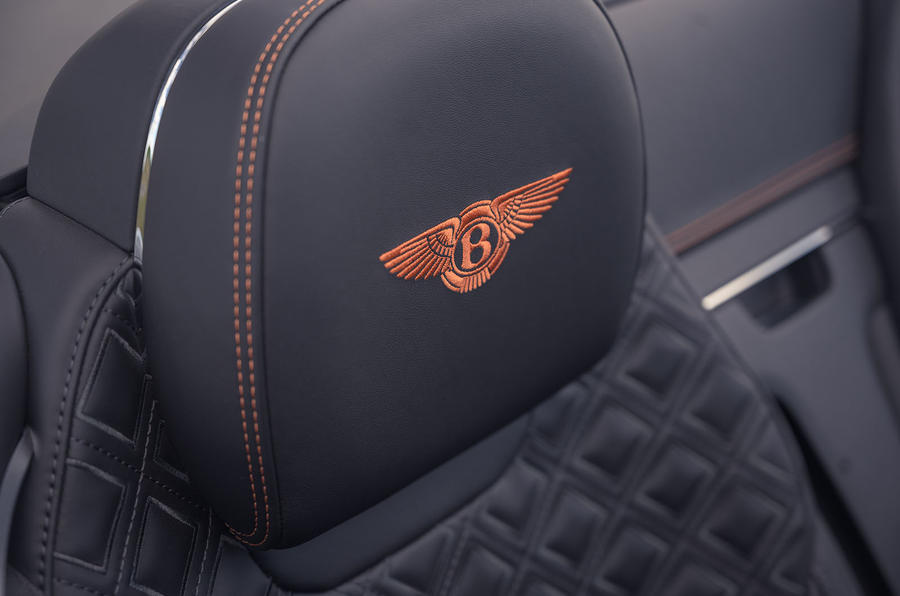 Bentley Continental GT Convertible V8 2020 UK first drive review - seat details