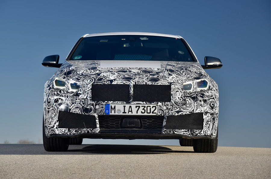BMW 1 Series 2019 prototype drive - static nose