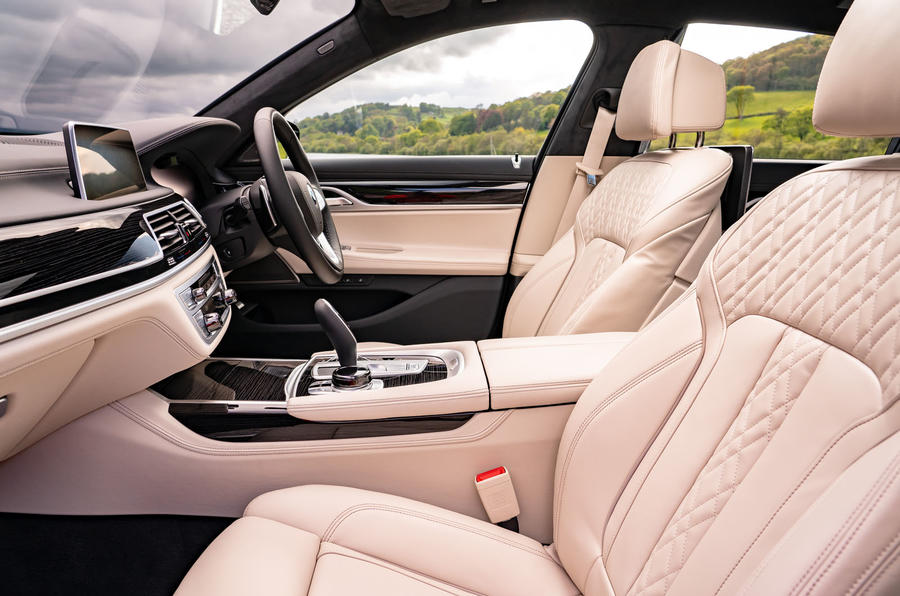 BMW 7 Series 730Ld 2019 UK first drive review - front seats