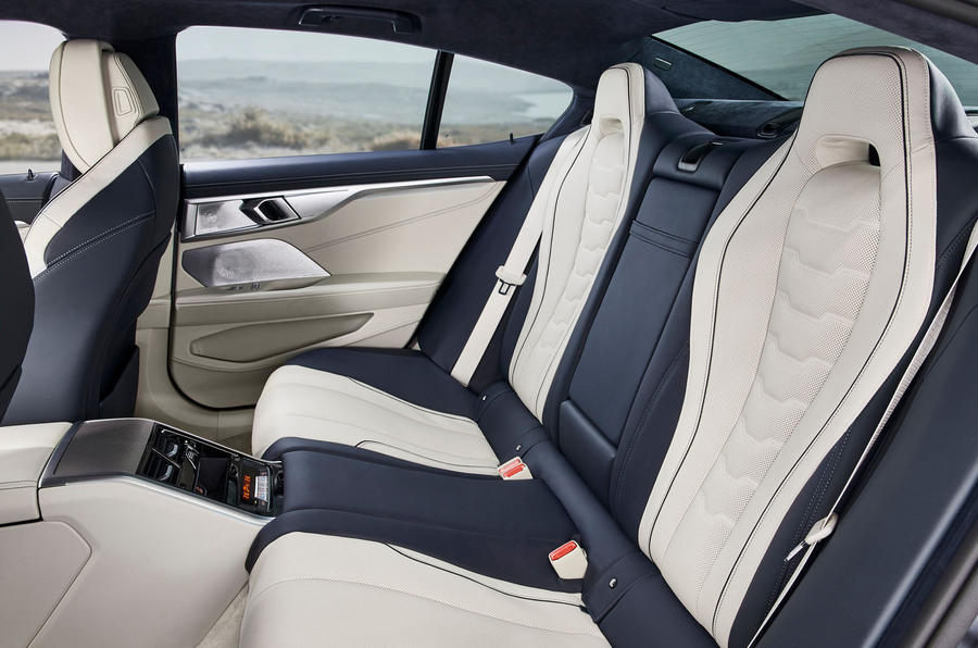 BMW 8 Series Gran Coupe 2019 first drive review - rear seats