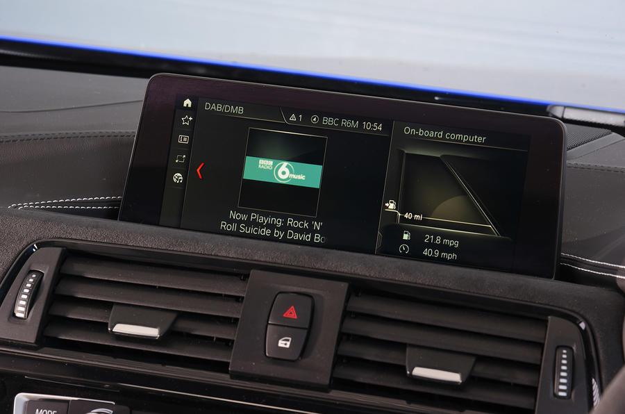 BMW M3 CS 2018 UK first drive review infotainment