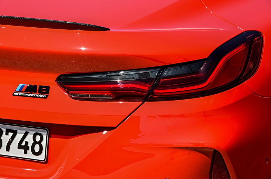 BMW M8 Competition Coupé 2019 first drive review - rear lights