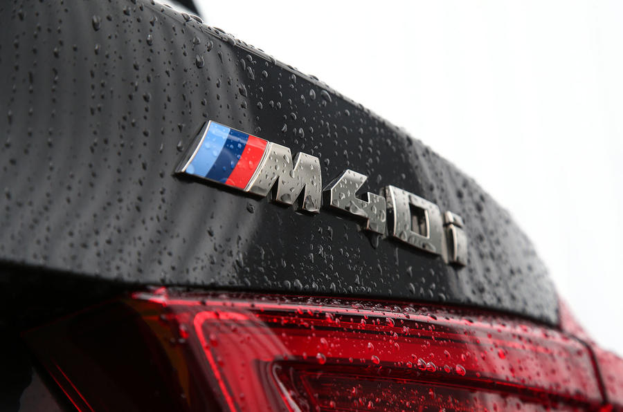 BMW X3 M40i 2018 UK review boot badges