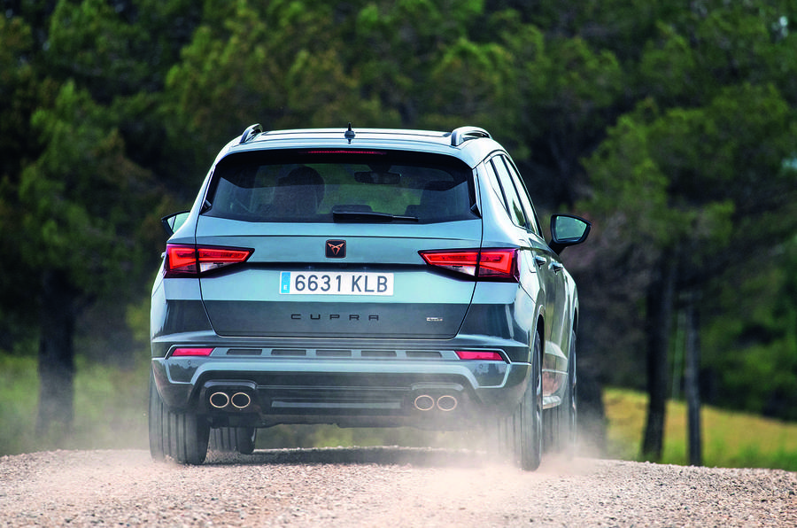 Cupra Ateca 2018 prototype first drive review dust track rear