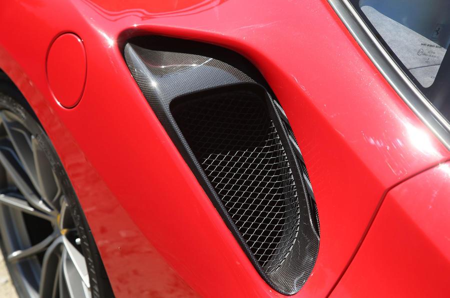 Ferrari 488 Pista 2018 review side aero
