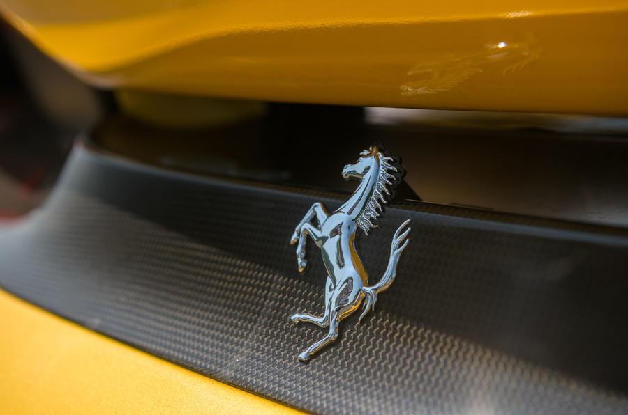 Ferrari 488 Pista Spider 2019 first drive review - rear badge