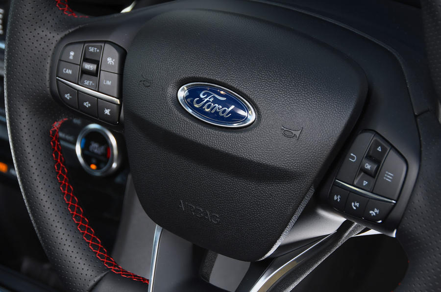 Ford Puma ST Line X 2020 UK first drive review - steering wheel