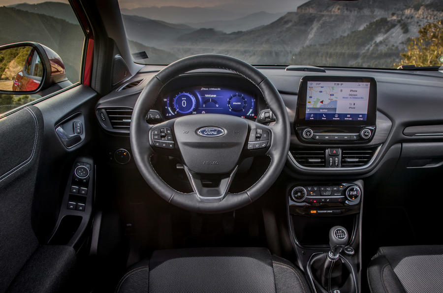 Ford Puma Titanium 2020 first drive review - steering wheel