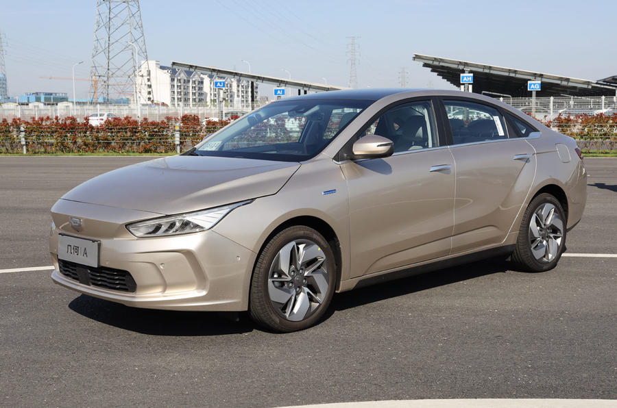 Geely Geometry A 2019 prototype drive - static front