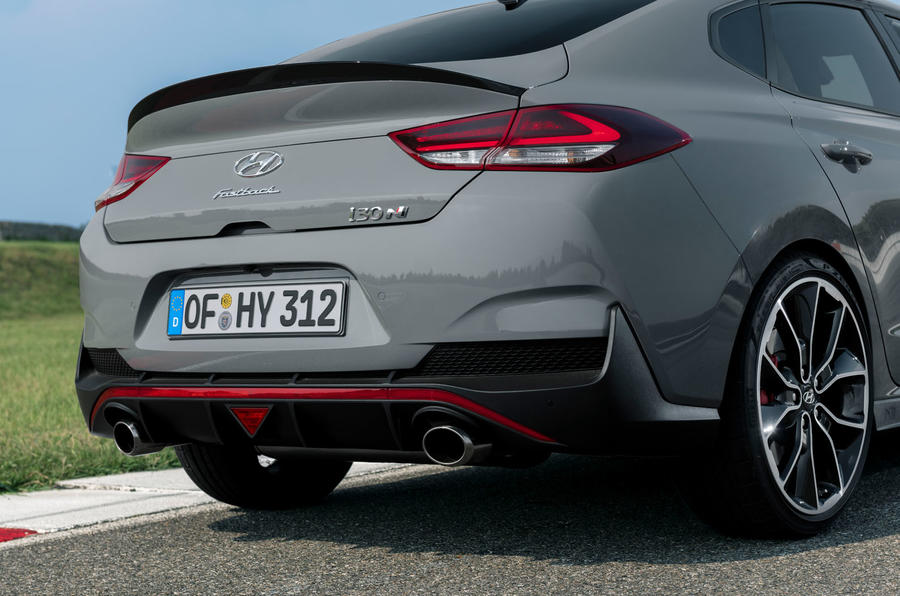 Hyundai i30 Fastback N 2019 first drive review - exhausts