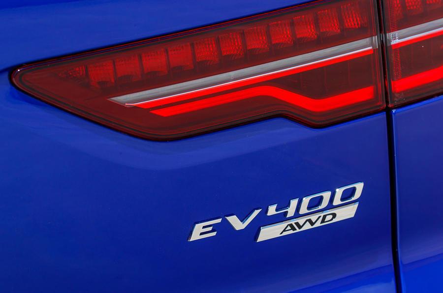 Jaguar I-Pace 2018 review rear badges