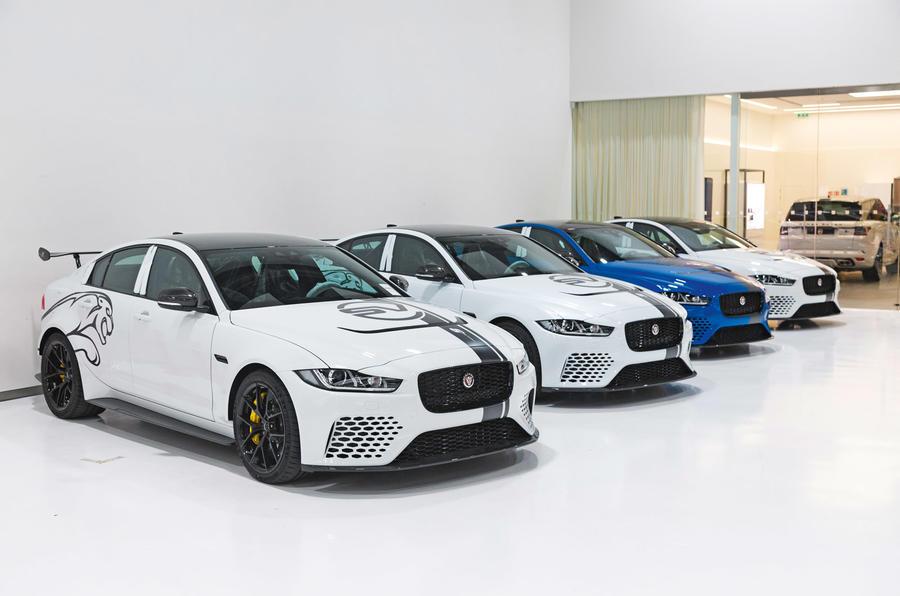 Jaguar XE SV Project 8 production line