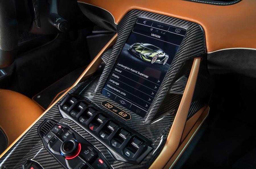 8 Lamborghini Sian 2021 : première console centrale d'examen de conduite au Royaume-Uni