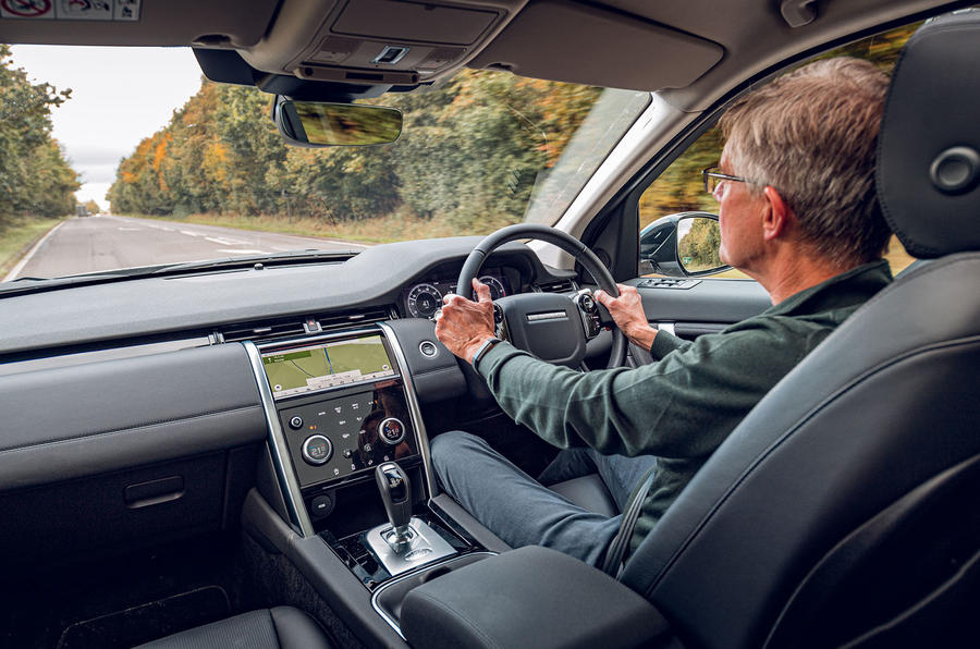 Land Rover Discovery Sport 2019 UK first drive review - Richard Bremner driving rear