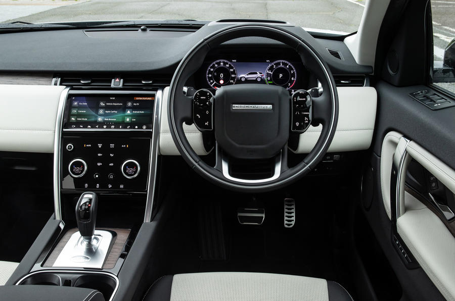 Land Rover Discovery Sport P300 PHEV 2020 UK first drive review - steering wheel