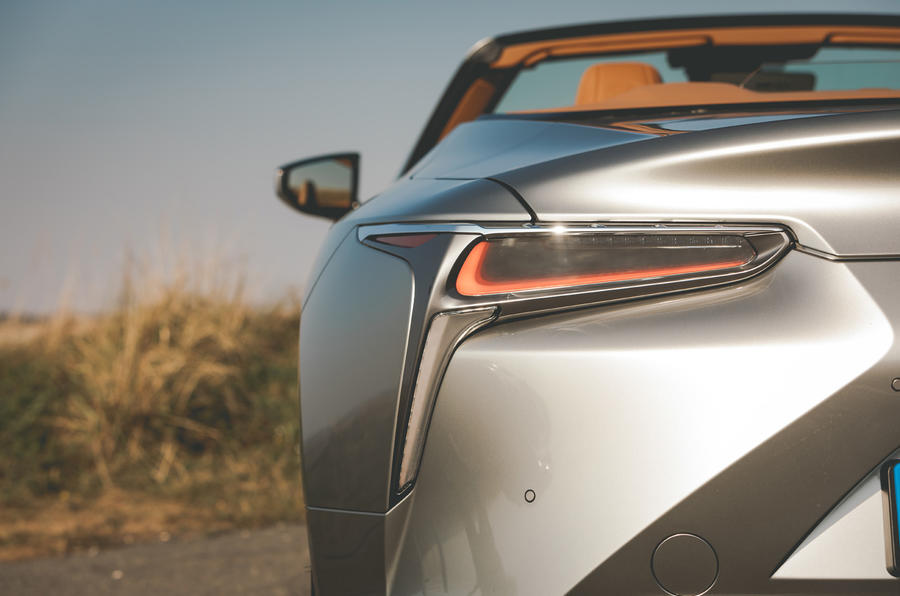 Lexus LC Convertible 2020 UK first drive review - rear lights