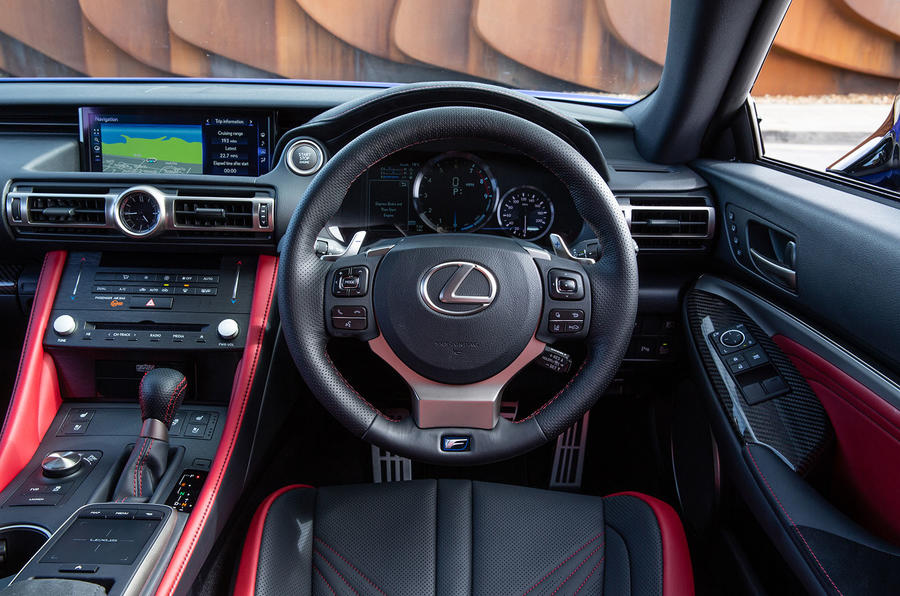 Lexus RC F with track pack 2019 first drive review - dashboard