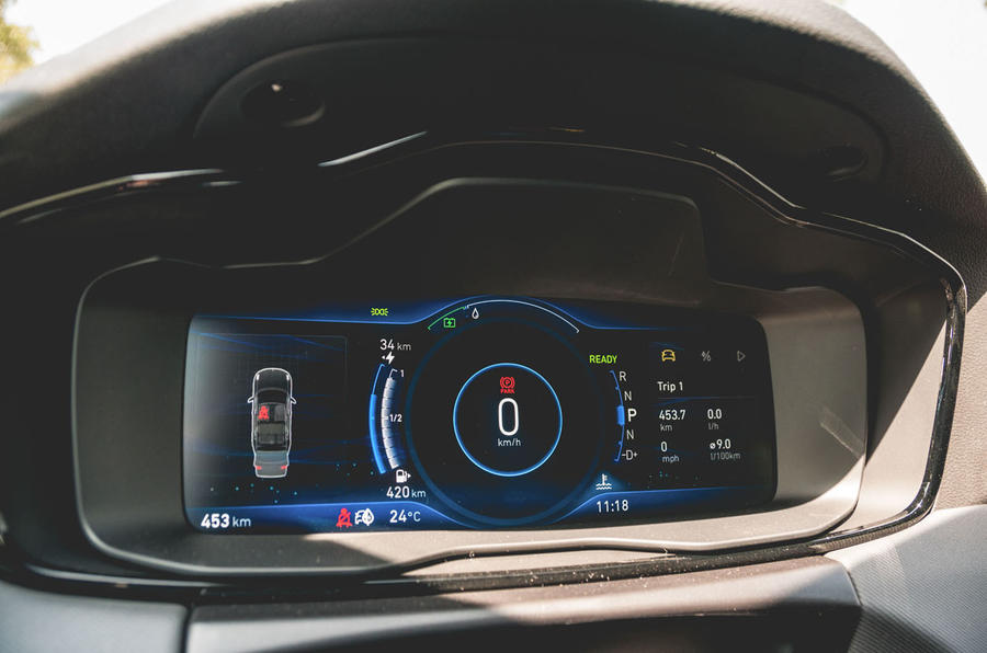 Lynk&Co 01 PHEV 2019 first drive review - instruments
