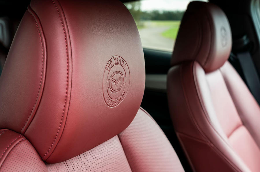 Mazda 3 100th Anniversary edition 2020 UK first drive review - front seats