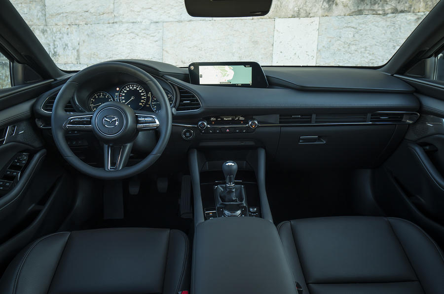 Mazda 3 2019 European first drive review - dashboard