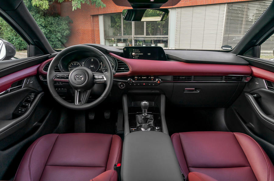 Mazda 3 Skyactiv-X 2019 first drive review - dashboard