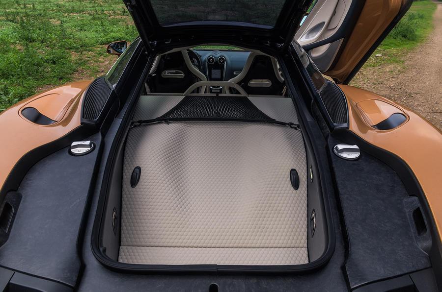 McLaren GT 2019 UK first drive review - boot