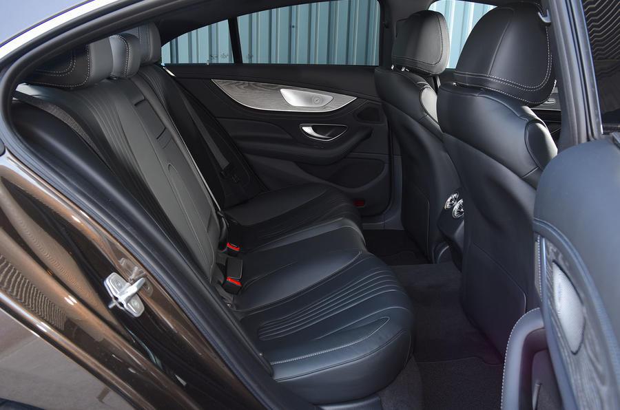 Mercedes-Benz CLS 350 d 2018 UK first drive rear seats