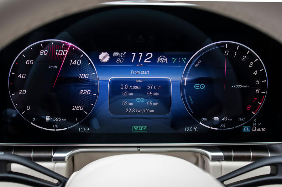 Mercedes-Benz S Class S580e 2020 first drive review - instruments