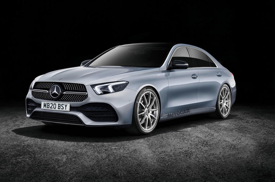 Mercedes-Benz S-Class render 2019 - stationary front