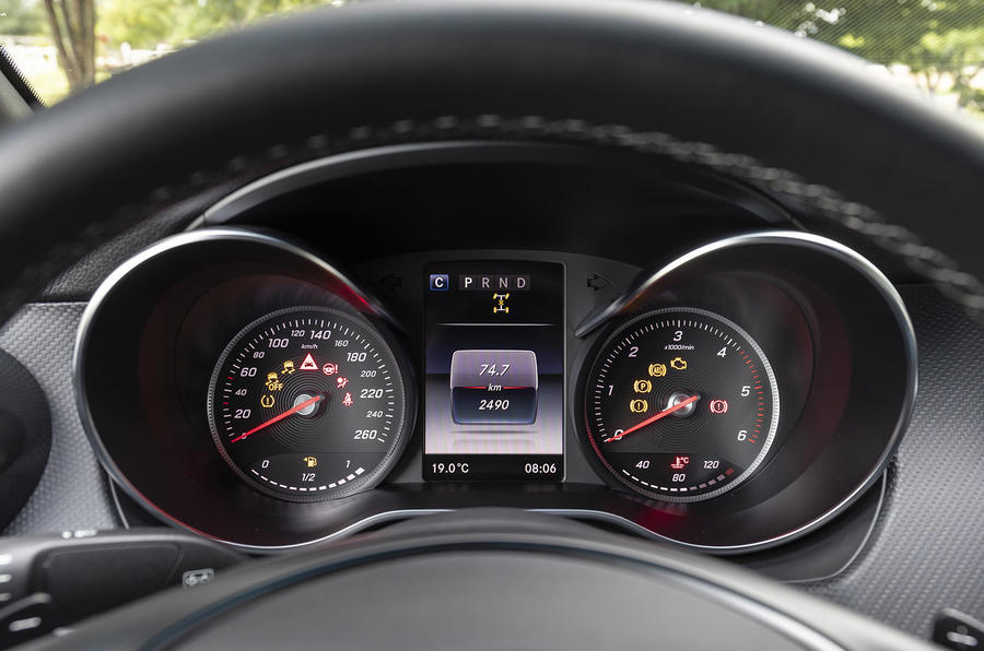 Mercedes-Benz X-Class X350d 2018 first drive review instrument cluster