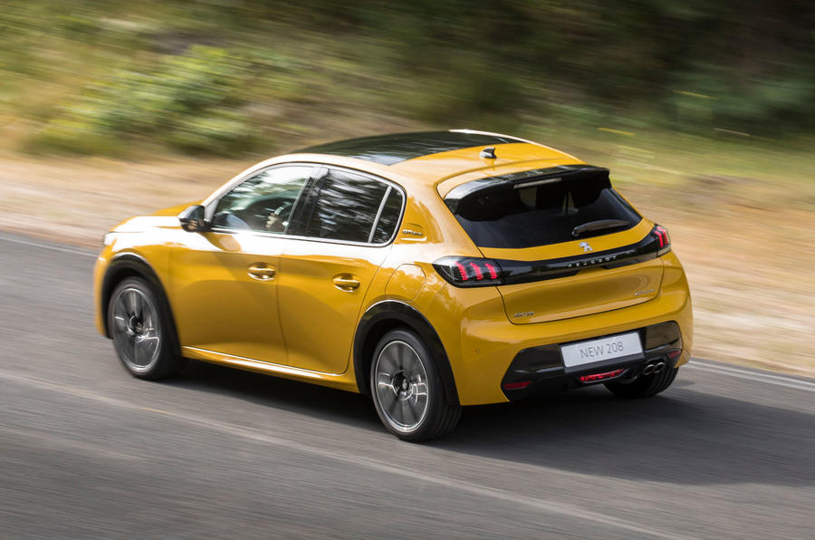 Peugeot 208 2020 prototype drive - on the road rear