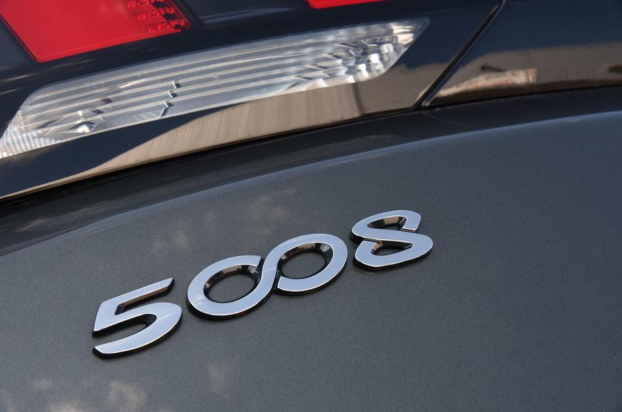 Peugeot 5008 2018 long-term review rear badge